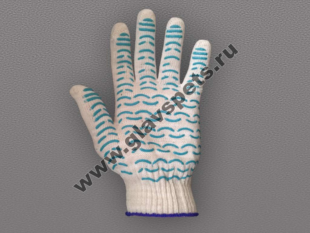 купить по оптовым ценам от производителя перчатки ХБ с ПВХ Волна, защитные рабочие перчатки, перчатки от порезов dyneema, краги спилковые пятипалые трек