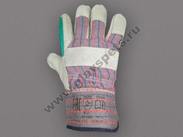 купить рабочие перчатки и рукавицы по ценам производителя, удобные условия доставки перчатки спилковые ДОКЕР комбинированные усиленные купить оптом недорого