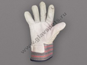 Компания Главспец производитель-поставщик предлагает купить оптом перчатки спилковые комбинированные ТРАЛ, удобные условия доставки по Москве и всей России