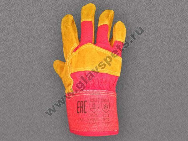 купить рукавицы и перчатки спилковые, перчатки спилковые комбинированные утепленные Русские Львы, доставка услугами транспортной компании по выбору клиента
