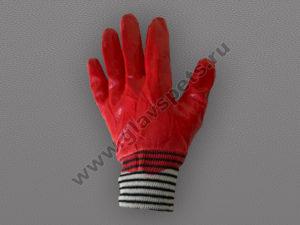 Перчатки ХБ с полным латексным покрытием