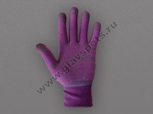 Перчатки нейлоновые антистатические с ПВХ цветные Smart Touch