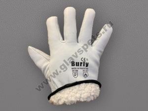 Перчатки Водителя кожаные утепленные