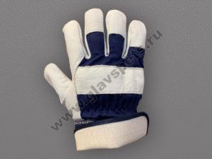Перчатки кожаные комбинированные Хватка
