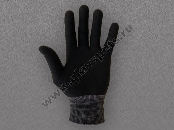 Перчатки нейлоновые антистатические без ПВХ черные